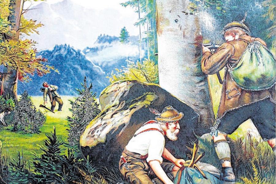 Gemälde Wilderer