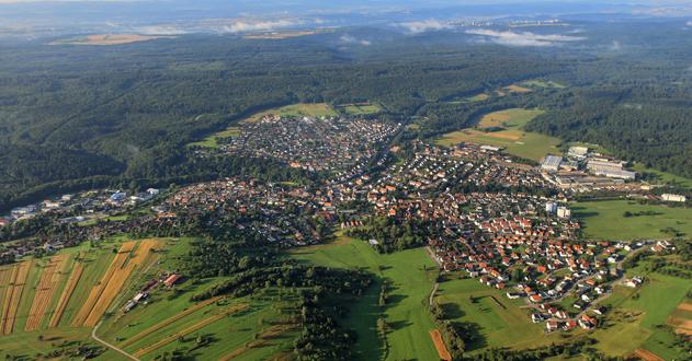 Luftbild Dettenhausen von Norden