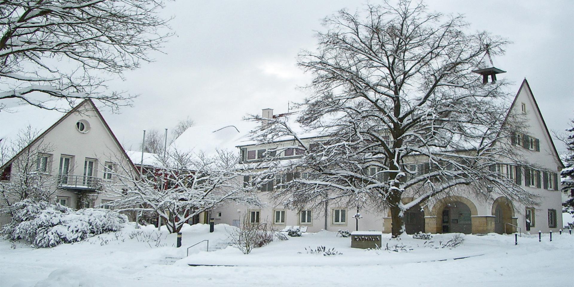 Rathaus-Winterrmotiv