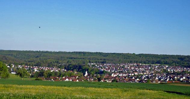 Blick auf Dettenhausen aus Richtung Norden
