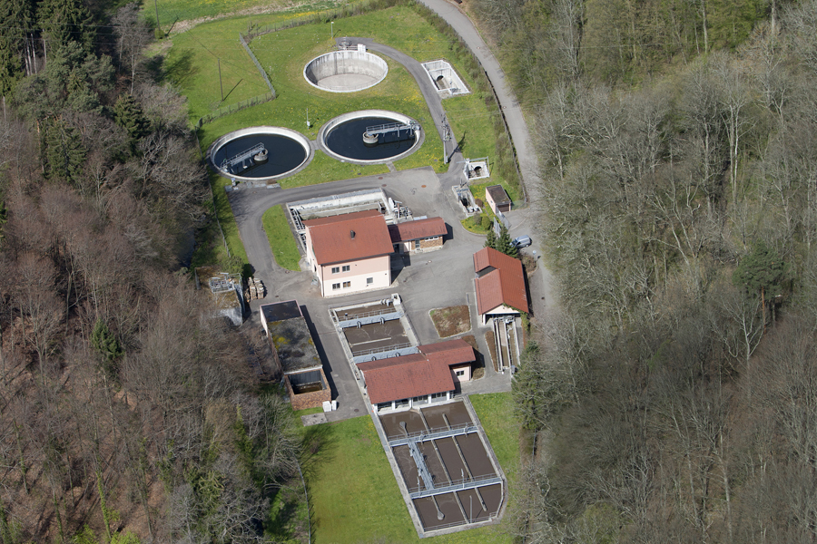 Klaeranlage Luftbild von Osten