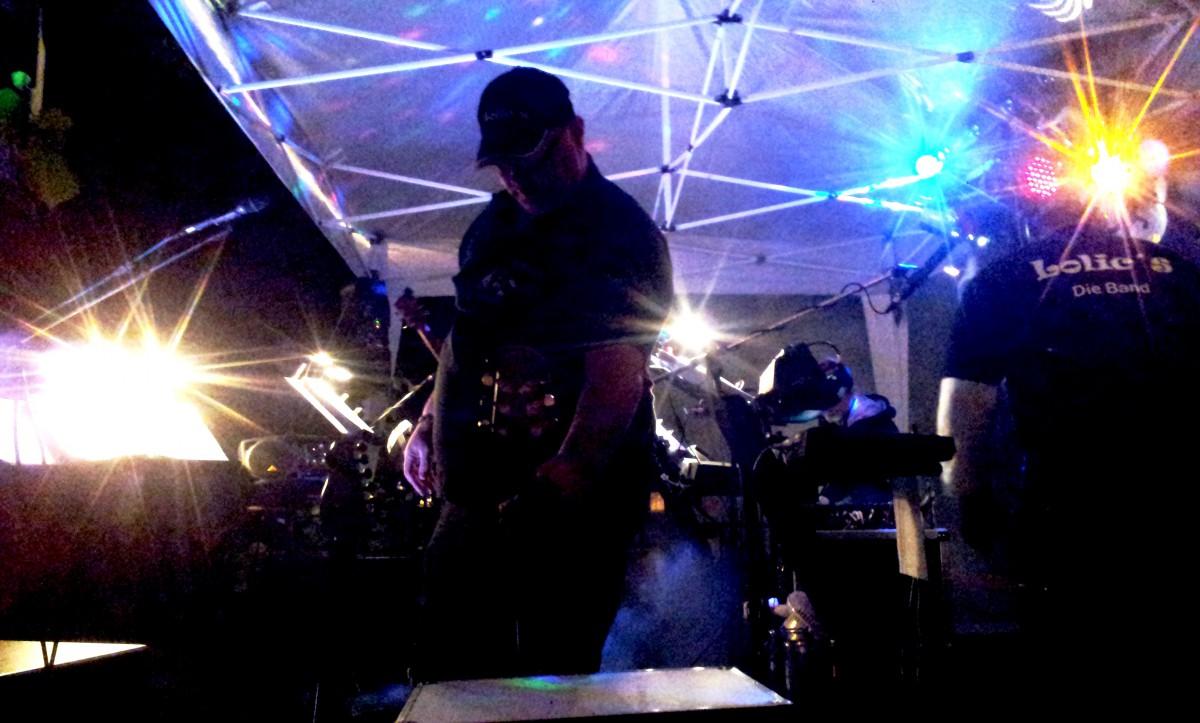 Backstage beim Lolic`s Gig