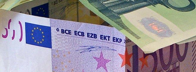 Bankverbindungen-Euroschein