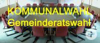 Bild Sitzungssaal Text Kommunalwahl Gemeinderatswahl