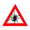 Zecken-Warnschild