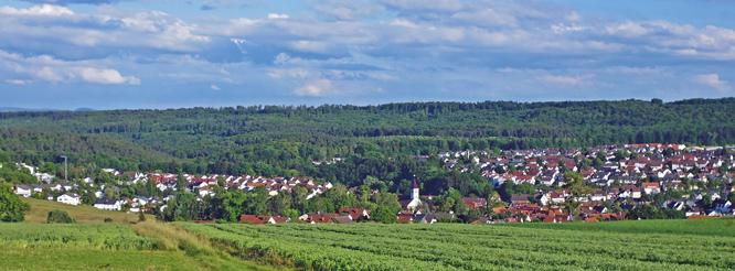 Panoramablick von Norden