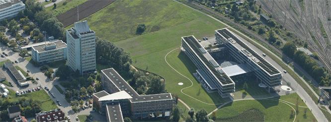 Luftbild Behördenzentrum mit Landratsamt