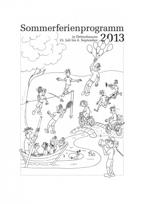 "Titelseite ""Sommerferienprogramm 2013"""