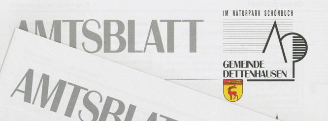 Amtsblatt Dettenhausen
