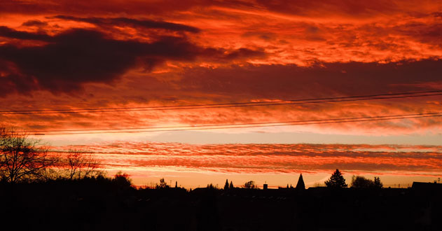 Sonnenaufgang-Herbst