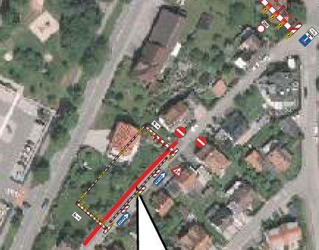 Straßensperrung Bebenhäuser Straße