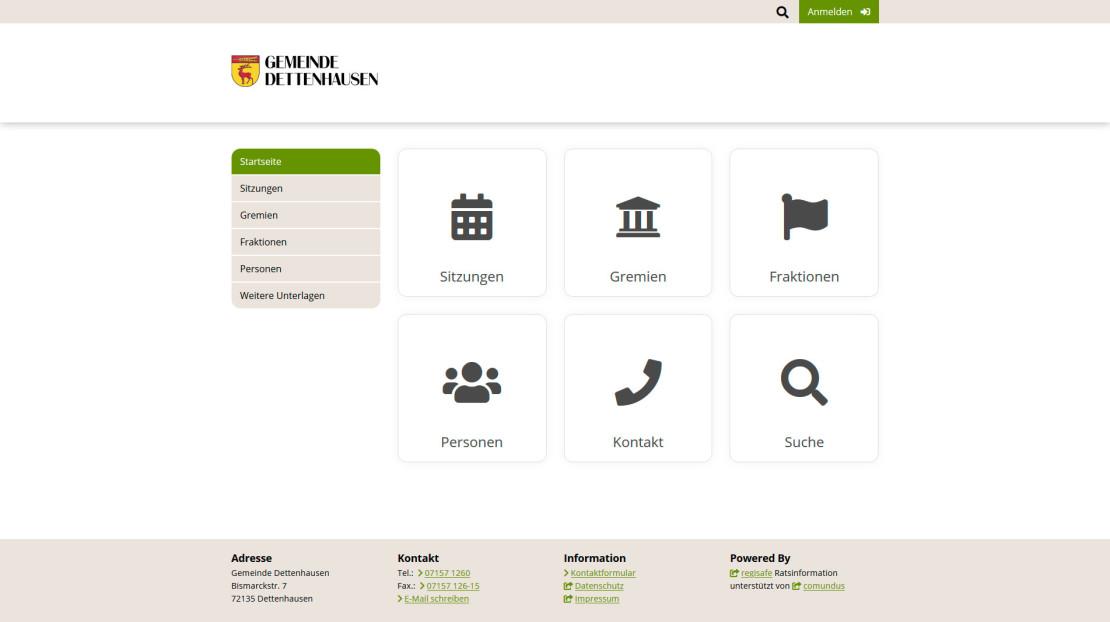 Ratsinformationssystem Gemeinde Dettenhausen